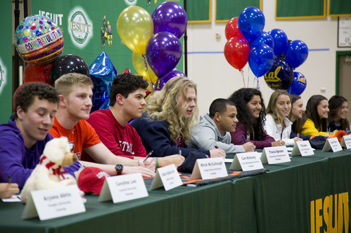 Student-Athletes Sign to Colleges
