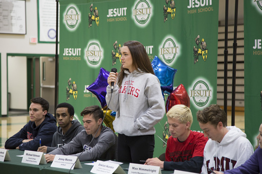 Jesuit Athletes Commit to Colleges