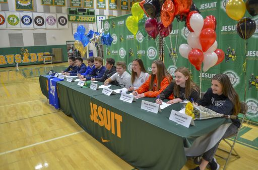 More Jesuit Student-Athletes Sign to Colleges