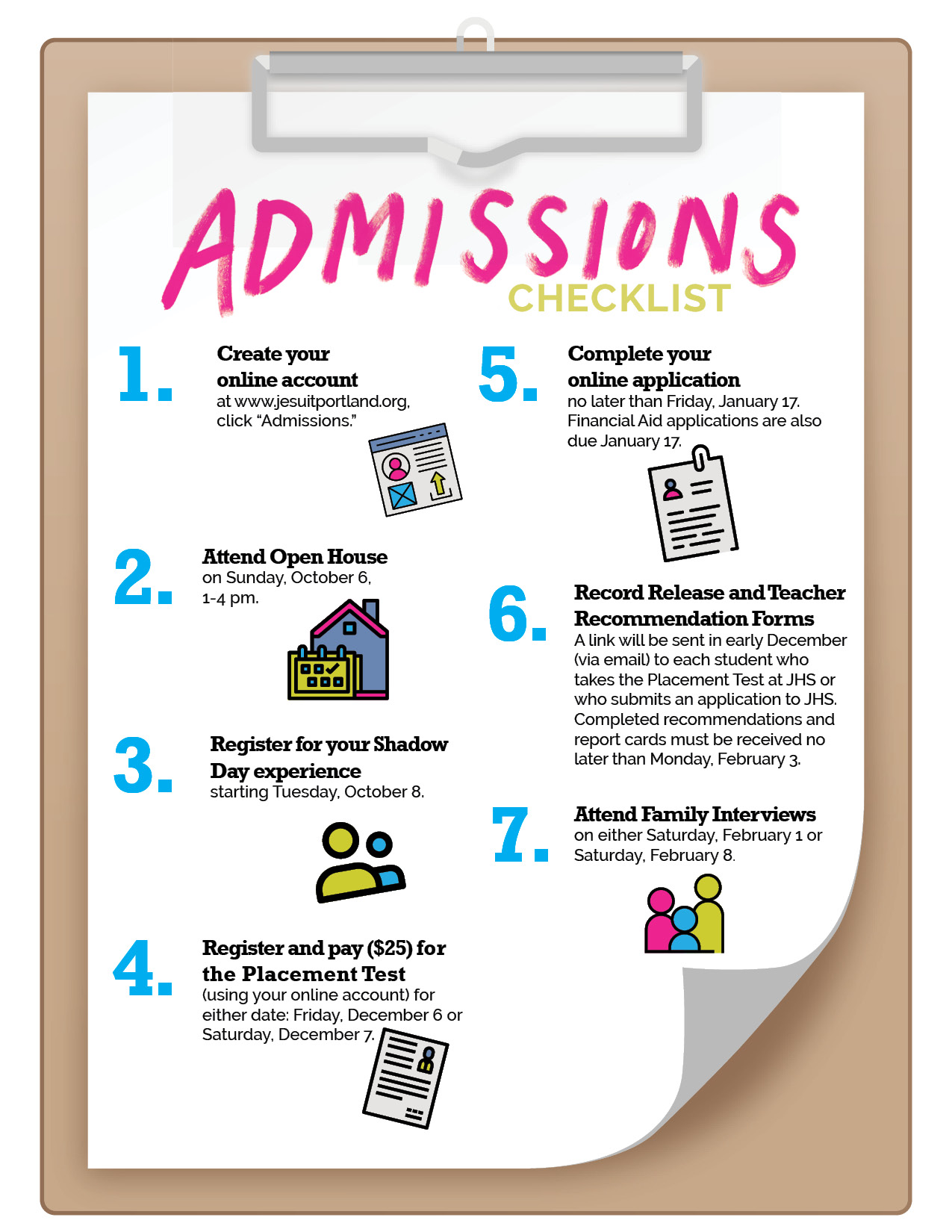 graphic about Welcome to Our Open House Printable referred to as Admissions Method - Jesuit Large University